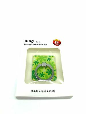 Green Universal Mobile Phone 360° Ring Stent Adhesive Cell Phone Kickstand