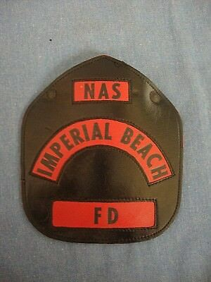Leather Helmet Shield - NAS Imperial Beach Fire Department - California