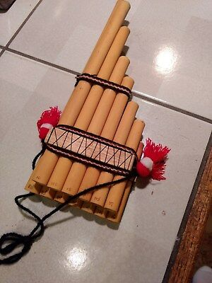 Pan Flute with 13 different tones - wooden LOOK