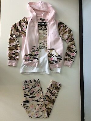 roberto cavalli 3 Piece Set Outfit Leggings, Top, Hoodie Age 9 Years Vgc
