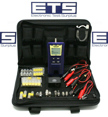 JDSU Test-Um Black Box Resi-Tester TP300 CAT 5E Coax 2 Wire Map Cable Tester Kit