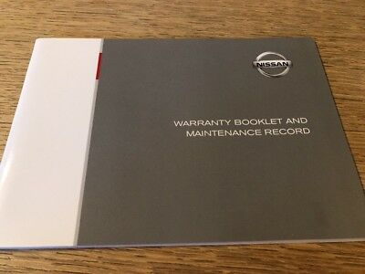 Genuine Nissan Warranty And Maintenance Record Genuine Service