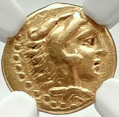 PHILIP II of Macedonia Authentic Ancient Gold Quarter Stater Greek Coin RARE NGC