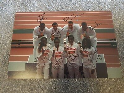Multi Signed London 2017 World Champs Team Gb Relay Squads Charity Auction