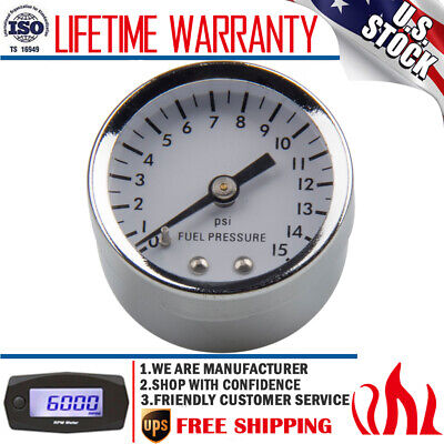 High performance 1561 Fuel Pressure Gauge, 1-1/2 Inch, 0-15 PSI