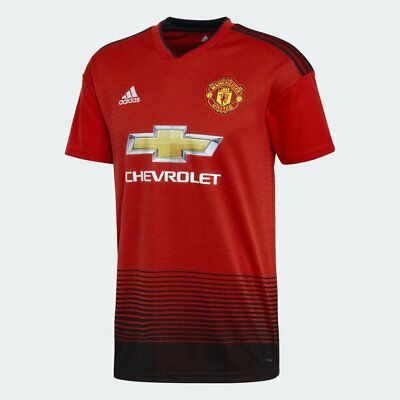 d7f353fdba adidas Manchester United Official 2018 2019 Home Soccer Football Jersey