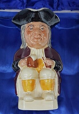 Toby Jug Philpot Pitcher Gift Tony Wood Staffordshire England <HGR>