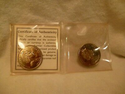 Harry Potter Commemorative Two Coin Set1 Crown Coins 2001& 2002 Isle of Man b