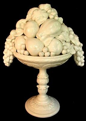Italian Pottery Fruit Compote *large* Very Unusual * Antique