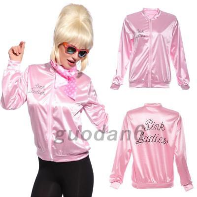 UK New Official Grease Pink Ladies Jacket Halloween Stage Jacket S/M/L/XL 2018