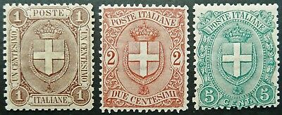 Italy 1896-97 National Coat Of Arms Stamp Set - Mnh - See!