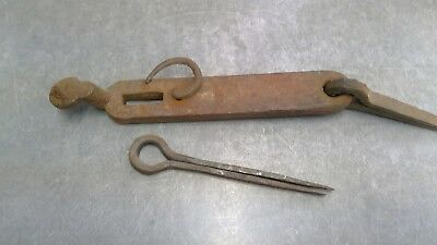 Vintage Hand Forged Gate Hasp Barn Door Latch Rusty Lock