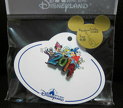 Disney Hong Kong Pin Mickey Magic 2014 Name Tag (Blank without name)