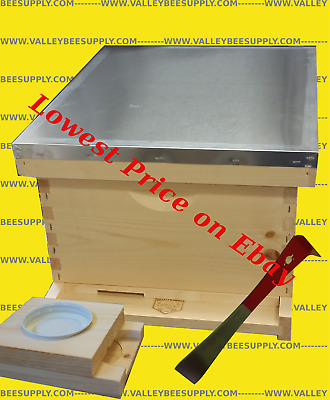 10-Frame Single Deep Bee Hive  w/ free feeder + Hive toolFree Shipping!