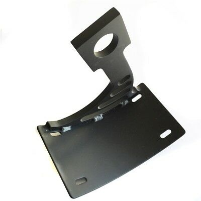 Side Mount Curved License Plate Bracket Tag Holder For 04-05 Yamaha YZF-R1 Black