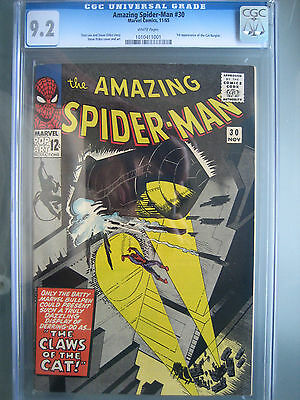 Amazing Spider-Man #30 1st Cat Burglar CGC 9.2 WP Universal Marvel Comics 1965
