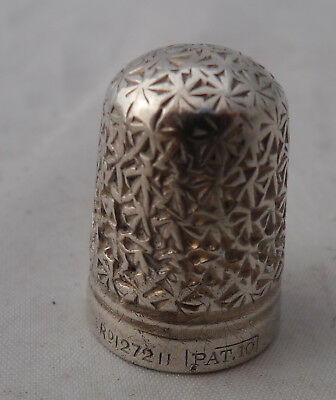 Antique Charles Horner Silver Thimble PAT 10 1889 - 1905 A672317