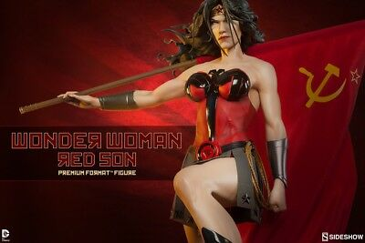 Wonder Woman Red Son Premium Format StatueSideshow Collectibles DC SOLD OUT