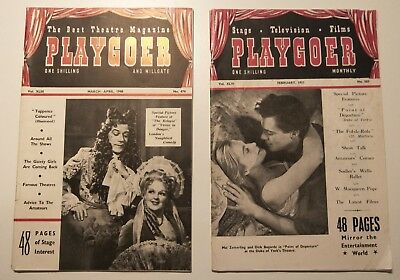 2 x Vintage Playgoer Theatre Magazines 1948 1951 Stage Television Films