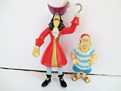 Disney Peter Pan PVC Action Figures CakeToppers Captain Hook Smee 8285