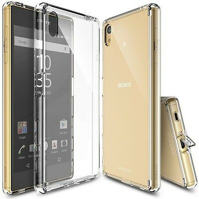 360° Full Body Front+Back Clear Soft TPU Case Shock Proof Cover- Sony Z3 Z5 mini