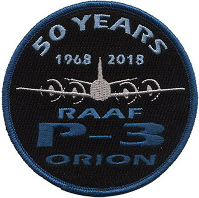 50 Years 1968 - 2018 P-3 Orion RAAF Australia Embroidered Patch Round