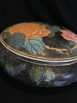 Rose dish with lid Vintage Chinese