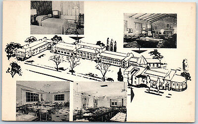 Treadway Inn Rochester NY Multi-View Interior Rooms Artist Grounds Postcard
