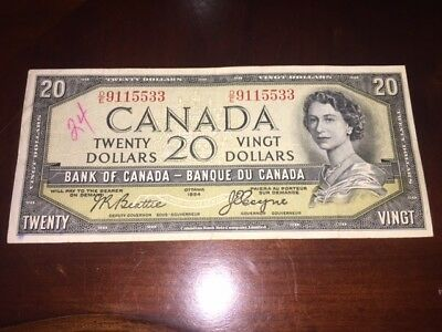 1954 NICE ONE  $20 Dollars Devil's Face - Beattie Coyne  Ships to Canada