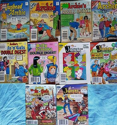 10 x Archie Double Digests and Digest Magazine 1999 - 2010
