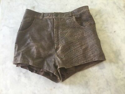 Vintage Italian Leather High Waisted Shorts
