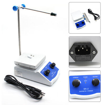 Heating Hot Plate Hotplate Magnetic Stirrer Mixer Heater SH-2 for Chemical Lab.