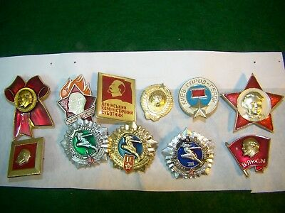 Russian 10 Pies.  Badges