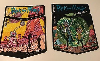 Lodge C-137 NOAC 2018 Rick and Morty 4 Patch Flap Set (SPOOF)