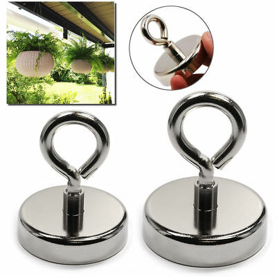 148LB FISHING MAGNET Super Strong Neodymium Round Thick Eyebolt Treasure Hunt US