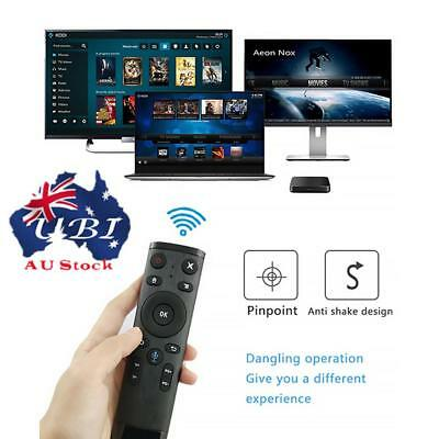 Q5 Bluetooth/2.4GHz WIFI Voice Remote Control Air Mouse With USB Receiver AU!