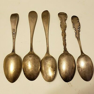 Sterling  Six Spoons Silver Sterling Vintage( 80.0 Grms)