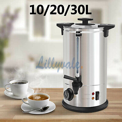 10/20/30 Litre Electric Stainless Steel Catering Water Boiler Tea Urn Commercial