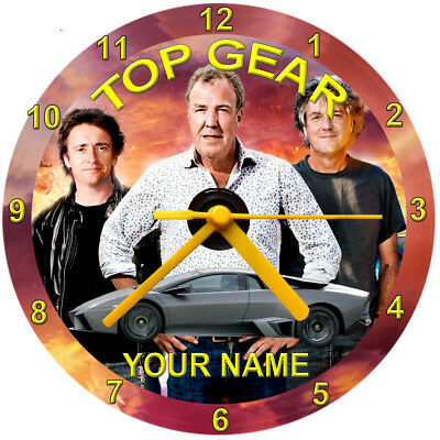#Top Gear Cd Clock, Personalised, Free Stand, Gift Box, Birthday, Novelty,