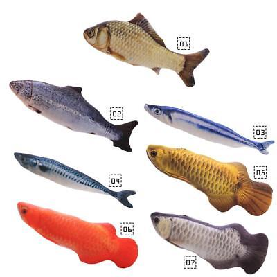 Artificial Plush Fish Shape Toys for Pet Cat Catnip Chewing Toy HF