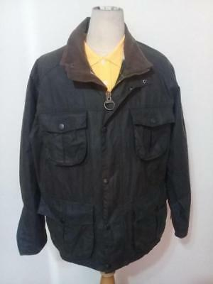 Mens BARBOUR A562 Utility WAXED Jacket Green Size XL