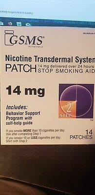 GSMS Nicotine Patch 14mg 14 count