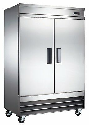 A.C.E. Commercial Reach-In Refrigerator 47 CuFt StainlessSteel Double Solid Door