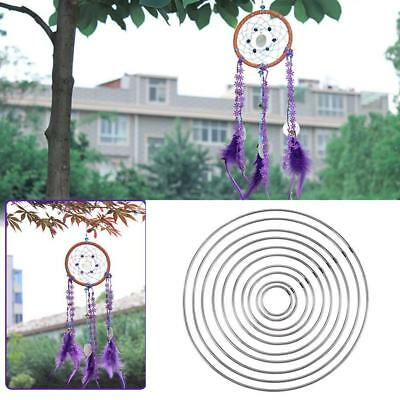 1X Simple Strong Metal Dream Catcher Hoop Ring Manual Handmade Wicker au