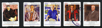 Australia 2012 Australian Nobel Prize Winners, set of 5 S/A stamps, used