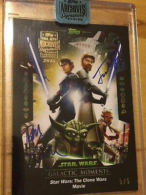 Star Wars Archives Signature Series James Taylor Tom Kane  Buyback Dual Auto 5/5