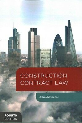 Construction Contract Law by John Adriaanse (Paperback, 2016)