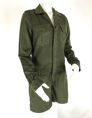 d4ad2b04673f Joes Jeans Womens Military Shirttail Romper Jumpsuit Olive Green Size Small  NWT
