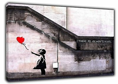 Banksy Balloon Girl Hope Paint Print On Canvas Photos Pictures Wall Art Decor