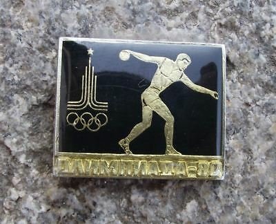 1980 Moscow Russia Summer Olympic Games Posed Greek Discus Thrower Pin Badge